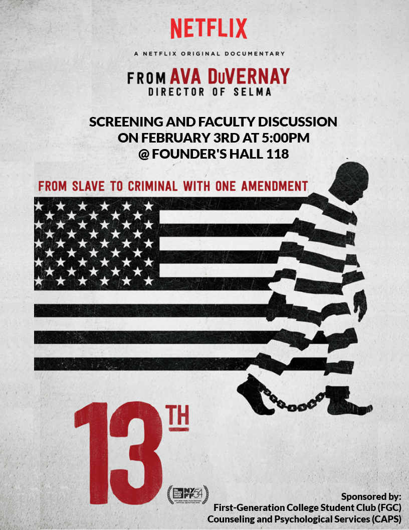 13th documentary screening faculty discussion african american