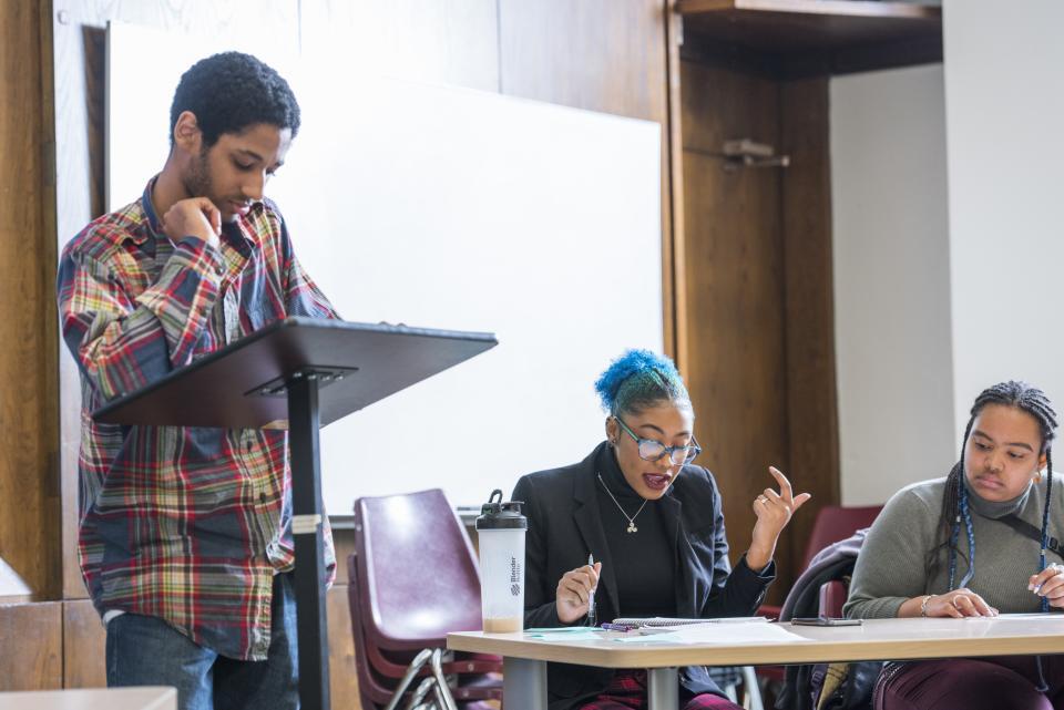 Students during Black Liberation Month Debate Night